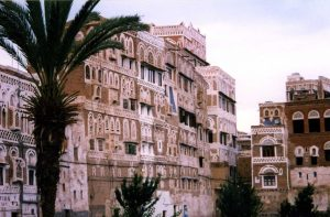 Painted houses in the Yemen