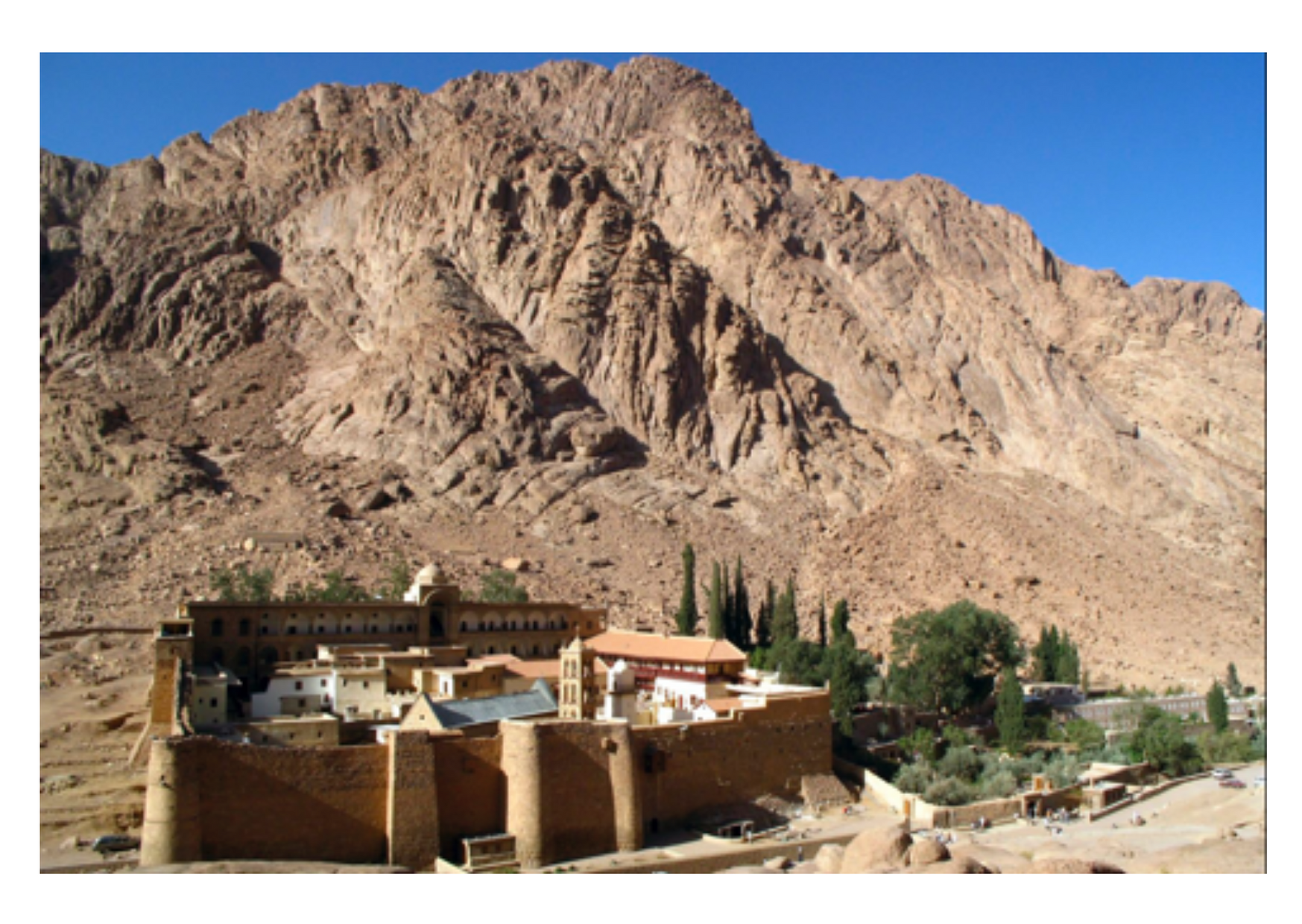 St Catherine's Monastery with Willow Peak in the background.